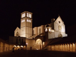 Assisi at night