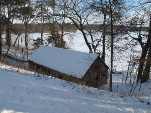 Boat house on Lake Sagatagan