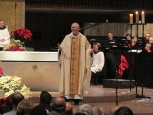 Abbot John, preaching at Christmas