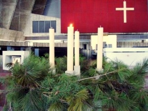 Abbey church: Advent wreath