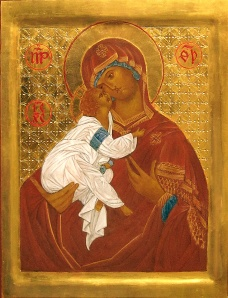 Virgen of Tenderness, icon by Fr. Nathanael Hauser, OSB
