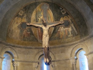 Crucifix, ca. 1150-1200, Leon-Castile, The Cloisters Museum, New York.