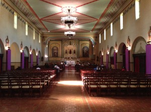 Mission Church, interior