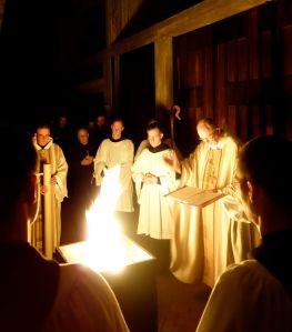 Easter Vigil: blessing of the fire