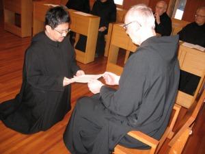 Brother Oka renews vows