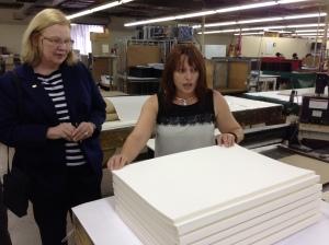 Sherrie Schmidt, Arizona State University, examines sewn gatherings