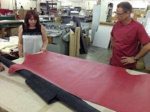 Italian leather for binding