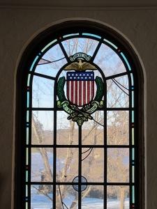 Stained glass E Pluribus Unum