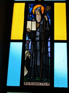 1.Stained Glass of Saint Benedict