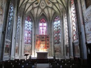 Abbey church, apse