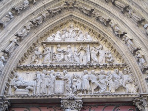Tympanum, Cathedral of Notre Dame, Paris.
