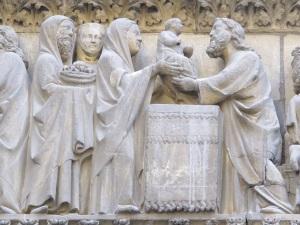 Presentation in the Temple.  Notre Dame, Paris.
