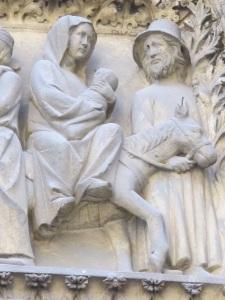 Flight to Egypt.  Notre Dame, Paris.